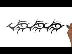 How to Draw a Tribal Armband Tattoo Design - YouTube