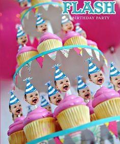 Decoración de cupcakes para fiesta de cumpleaños de bebe | Manualidades para Cumpleaños