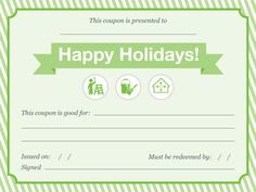 Print your own gift coupons: Offer your time and skill for presents your loved ones will really use