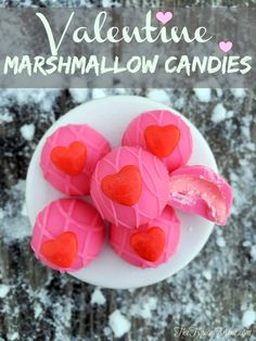 Valentine marshmallow candies that are EASY to make at home and make a great Valentine's Day treat for parties!