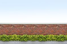 brick fence Brick Fence, Fence Design, Outdoor Structures