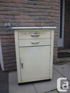Old Metal Cabinets For Sale | Vintage Metal Cabinet   $110 (401/Port Union