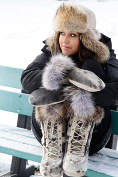 Fur Hats, Fur Accessories, Its Cold Outside, Winter Is Coming, Ski, Gloves, Lifestyle, Boots, Jackets