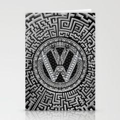 Aztec vw volkswagen sign Stationery Card @society6 #stationerycard #artprint #artdesign #frameart #artprinting #aztec #car #logo #jeep #bmw