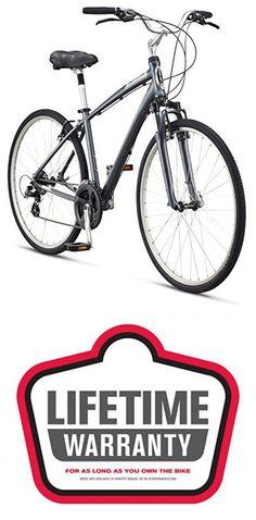 """Schwinn Men's Voyager 1 700C Wheels Hybrid Bicycle, Charcoal, 18""""/Medium Hybrid Bikes, Charcoal, Wheels, Bicycle, Medium, Travel, Bicycle Kick, Bicycles, Bmx"""