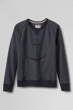 Men's Long Sleeve French Terry Graphic Crewneck