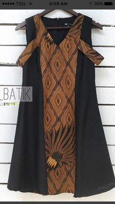 Simple Dresses, Casual Dresses For Women, Pretty Dresses, Clothes For Women, Model Dress Batik, Batik Dress, Model Kebaya, Batik Kebaya, Blouse Batik