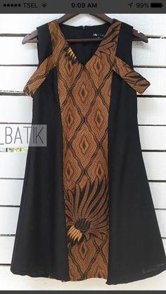 Model Dress Batik, Batik Dress, Batik Fashion, Hijab Fashion, Simple Dresses, Pretty Dresses, Model Kebaya, Batik Kebaya, Blouse Batik