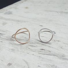 Delicate Circle Ring by shopbreadandcircus on Etsy