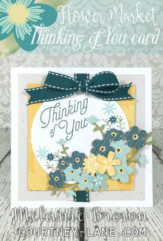 Flower Market Thinking of You card