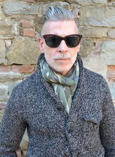 Man in Pink | Nick Wooster classic knit coolest guy?