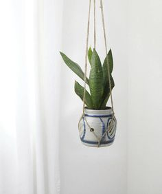 Exotic pattern planter and raw jute hanger