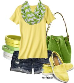 """""""Chevron in Citrus"""" by jewhite76 ❤ liked on Polyvore"""