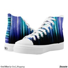 Cool Blue Printed Shoes