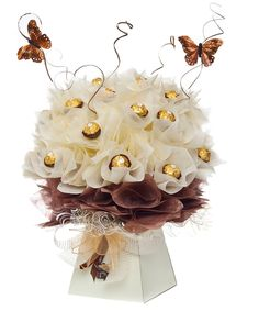 Luxury chocolate bouquets in different sizes and designs for any gift occasion with UK wide delivery.