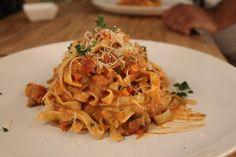 Fettuccine with Bolognese.