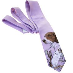 Regal Beagle Tie Lavendar, $25, now featured on Fab.