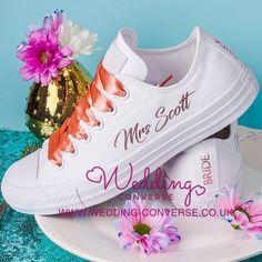 b230deb06494 Unique Bride   Groom Custom Converse - Wedding Converse