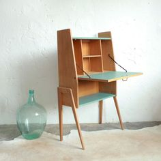 Secrétaire bois vintage - atelierdupetitparc.fr