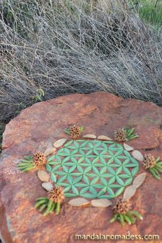 Flower of Life in nature made out of buckeye leaf. Sacred Geometry Visionary Art Patterns in Nature Earth Art Patterns, Patterns In Nature, Pattern Art, Mandala Design, Mandala Art, Seed Art, Geometric Symbols, Collections Of Objects, Alchemy