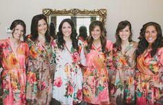 Pretty Bridal Party / Bridesmaid Kimono Robes