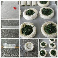 Ispanaklı kuş yuvası böreğinin yapım aşaması #ıspanak #börek