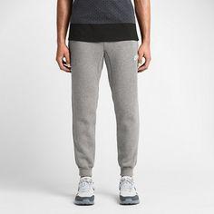 Nike AW77 Cuffed Fleece Dark Grey Heather/White $55