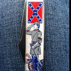 Confederate flag pocket knife
