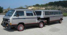 Volkswagen Vanagon: With Trailer Volkswagen Transporter, Vw Bus T3, Transporter T3, Volkswagen Bus, Vw T1, Camper Caravan, Camper Trailers, Campers World, Combi Ww