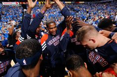 #Thunder advances to Round 2 of the 2012 NBA Playoffs. Team Is One!