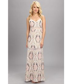 BCBGeneration Woven Evening Dress BAE67A89 Off White/Multi - Zappos.com Free Shipping BOTH Ways