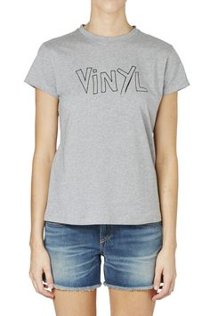 Bella Freud 'Vinyl' T-Shirt - Grey