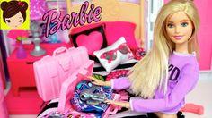 Barbie Hace sus Maletas para ir de Vacaciones con Ayuda de Barbie Caroli...