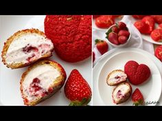 EPRES choux au craquelin 🍓 - BebePiskóta - YouTube Muffin, The Creator, Strawberry, Fruit, Breakfast, Sweet, Youtube, Food, Sprouts