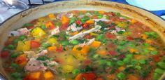 Receita de Canja de Galinha com ervilha! Prepare agora esta receita deliciosa e muito facil!