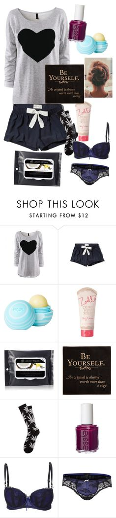 """""""Bed time for me"""" by aravicka ❤ liked on Polyvore featuring Abercrombie & Fitch, dELiA*s, Alöe, HUF, Essie and Elle Macpherson Intimates"""