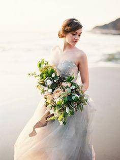 Delicate, Ethereal Beach Wedding Style