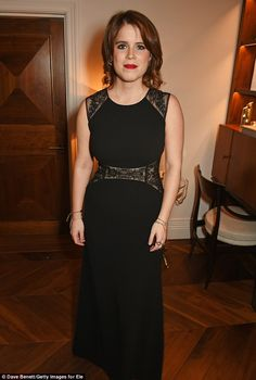 Princess Eugenie opted for simple elegance at The Animal Ball event at The Arts Club last night. The young royal, 26, mingled with celebrity friends including Ellie Goulding as at the colourful party.
