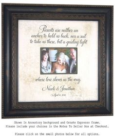 Personalized Gift for Parents Mother of the by PhotoFrameOriginals