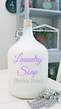 Homemade Laundry Soap - Borax Free