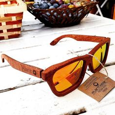 classic series - mahogany with orange lenses || 120 options to choose from