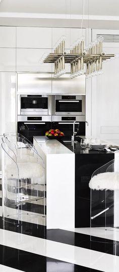 New kitchen floor black architectural digest Ideas Architectural Digest, Kitchen Renovation Design, Kitchen Design, Black Kitchens, Cool Kitchens, Kitchen Black, New Kitchen, Kitchen Decor, Kitchen Island