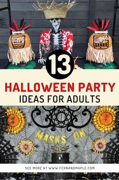 These 13 Halloween Party Ideas for Adults are full of creative ideas for celebrating the spooky holiday for every personality type! Full of DIY decor fun. Get all of the details now at fernandmaple.com!