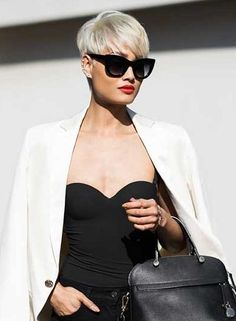 Best Short Pixie Cuts to Refresh Your Look Today! 35 Best Short Pixie Cuts to Refresh Your Look Today! - Short Pixie Best Short Pixie Cuts to Refresh Your Look Today! Messy Pixie Haircut, Pixie Haircut Styles, Longer Pixie Haircut, Short Pixie Haircuts, Pixie Hairstyles, Short Hair Styles, Modern Hairstyles, Short Platinum Blonde Hair, Short Silver Hair