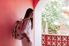 Little America Backpack – Tropical Flora
