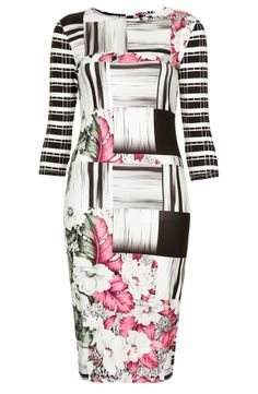 Loving this tropical print body-con dress by Topshop!