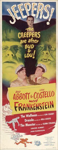 Bud Abbott Lou Costello Meet Frankenstein 14x36 Movie Poster (1948)
