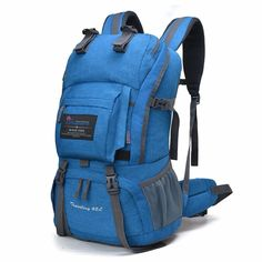 Internal Frame Climbing Bag Waterproof Polyester Material Unisex Travel Backpack for Camping Hiking Outdoor with Rain Cover Backpack Bags, Backpack 2017, Small Backpack, Laptop Backpack, Outdoor Backpacks, Cool Backpacks, Blue Backpacks, Waterproof Hiking Backpack, Backpacking
