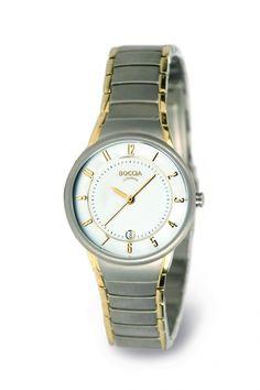 3158-02 - Boccia Titanium bicolor dames horloge