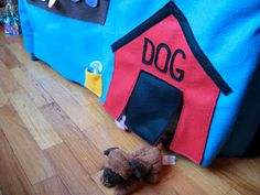 Felt Card Table Playhouse--I have to make this!  How cute?!